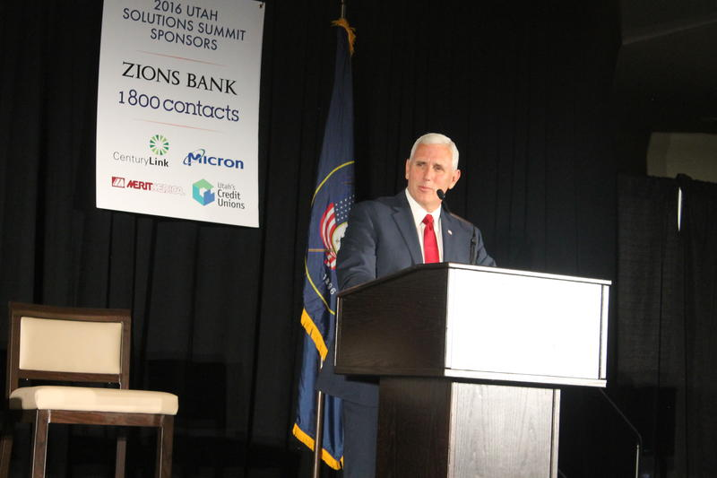 Indiana Governor Mike Pence speaking at the 3rd annual Utah Solutions Summit.
