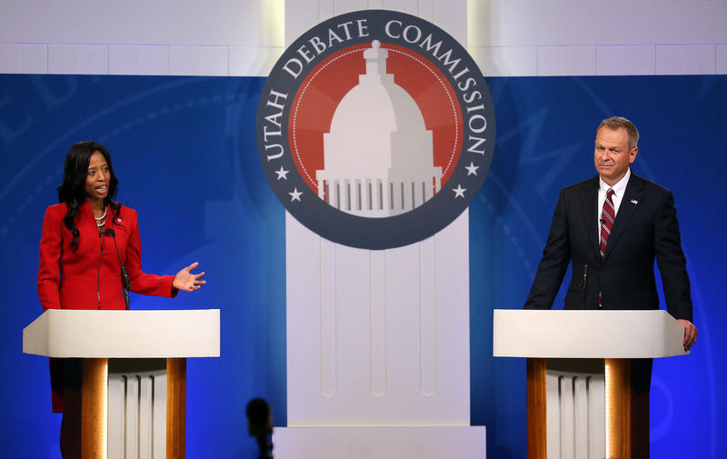 Republican Congresswoman Mia Love and Democrat Doug Owens meet in the Utah Debate Commission's Fourth District Debate.