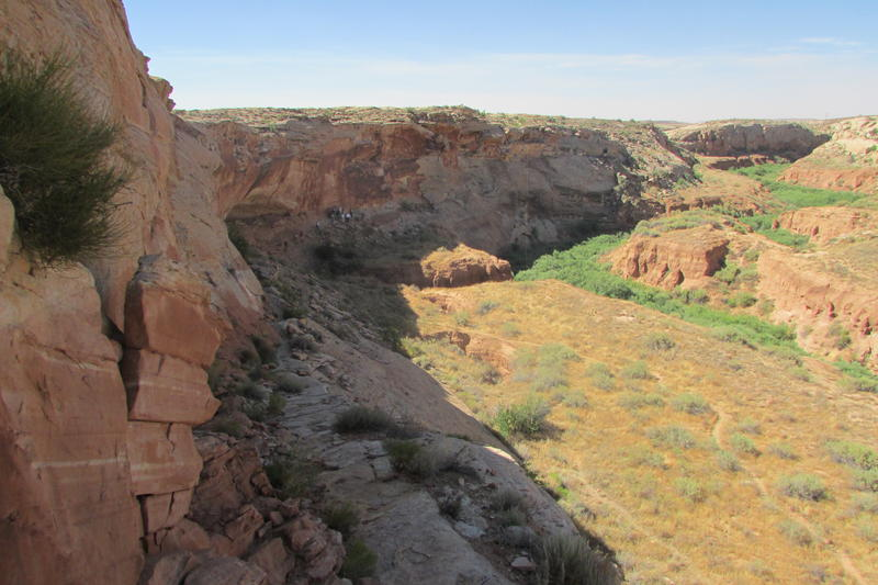 A private owner purchased nearly 400 acres at Comb Ridge (on photo's right side) near Bluff on Wednesday by outbidding a foundation that wanted to preserve the land's historic features. The area is included in the Bears Ears National Monument proposal.