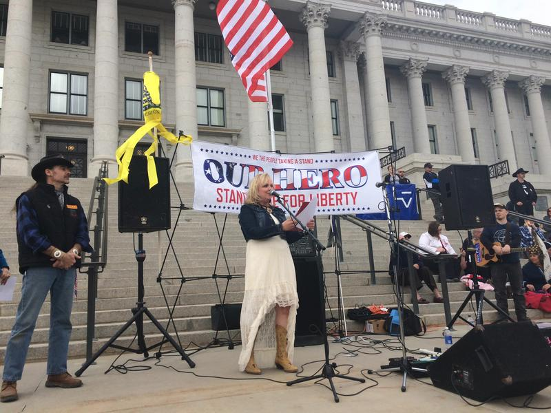 Janalee Tobias is a stalwart Republican, but she watched the election through a liberal news feed as part of an experiment on the Facebook bubble by The Guardian. Here, she's speaking at a Capitol rally for the Malheur Refuge occupiers earlier this year.