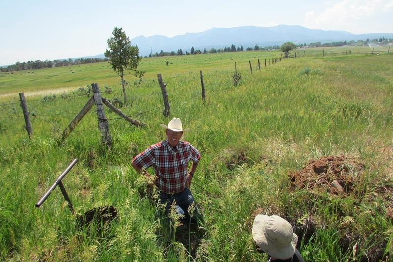 Last summer San Juan County Commissioner Bruce Adams repairs a sprinkler valve in his hayfield this summer. On Thursday, he called on Congress to listen to locals on the Bears Ears National Monument.