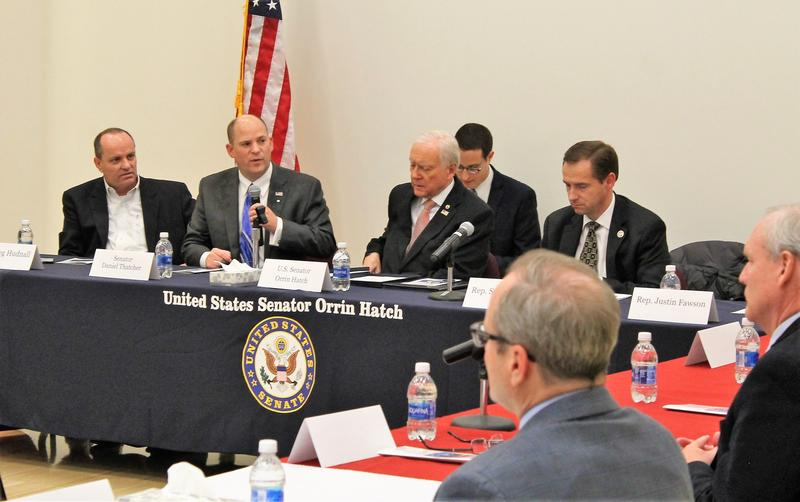 The panel was organized by Senator Orrin Hatch and included mental health experts, activits and state lawmakers.