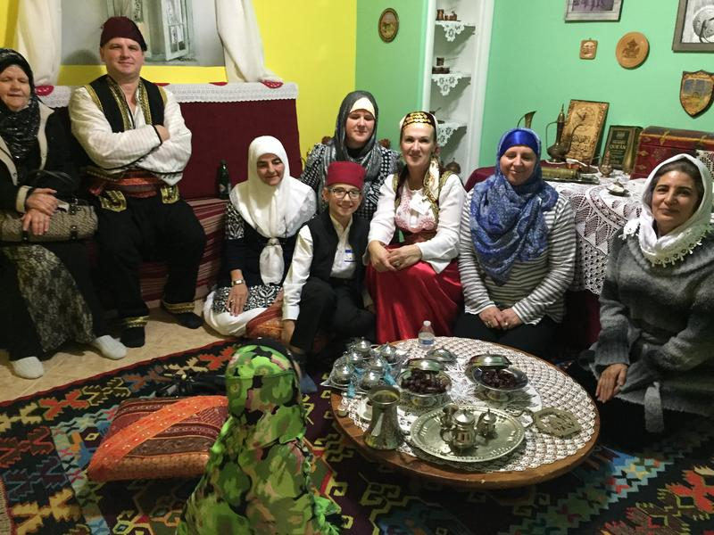 Members of the Islamic Society of Bosniaks in Utah hold a traditional coffee and sweets room during an open house on Saturday, Dec. 10.