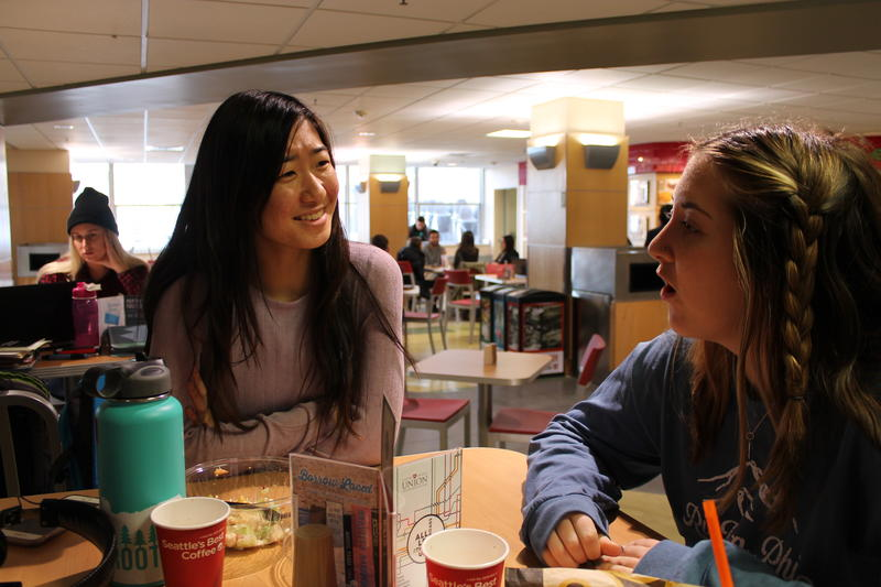 Freshman friends Nene Maruta and Sarah Czaja say they feel hopeful for the future despite the fact that neither of them supported Trump in the election.