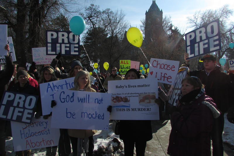 Utah abortion opponents began their March for Life Saturday at the City County Building and headed to the State Capitol.