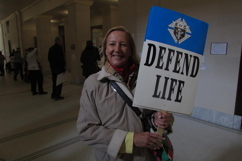 Linda Wainscott has traveled to San Fransisco for the anti-abortion protests that take place yearly on the anniversary of the U.S. Supreme Court's Roe v. Wade decision. This year she was able to take part in Utah's first ever anti-abortion March for Life.