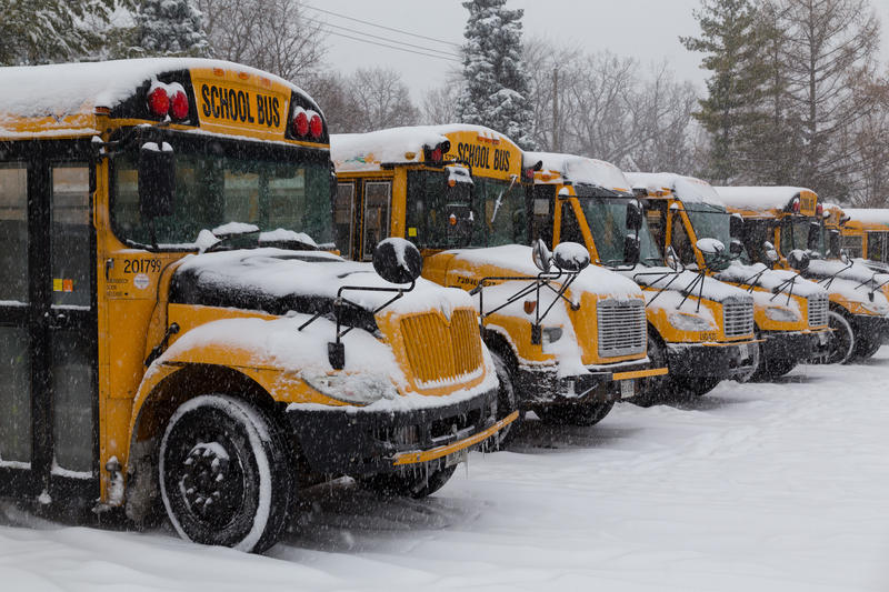 Box Elder and Cache County School Districs closed Thursday while the majority of Northern Utah schools remained open.