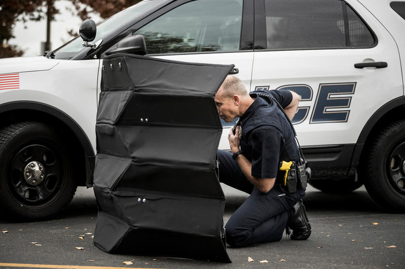 "This ""origami shield"" stops bullets and can protect up to three police officers at a time."
