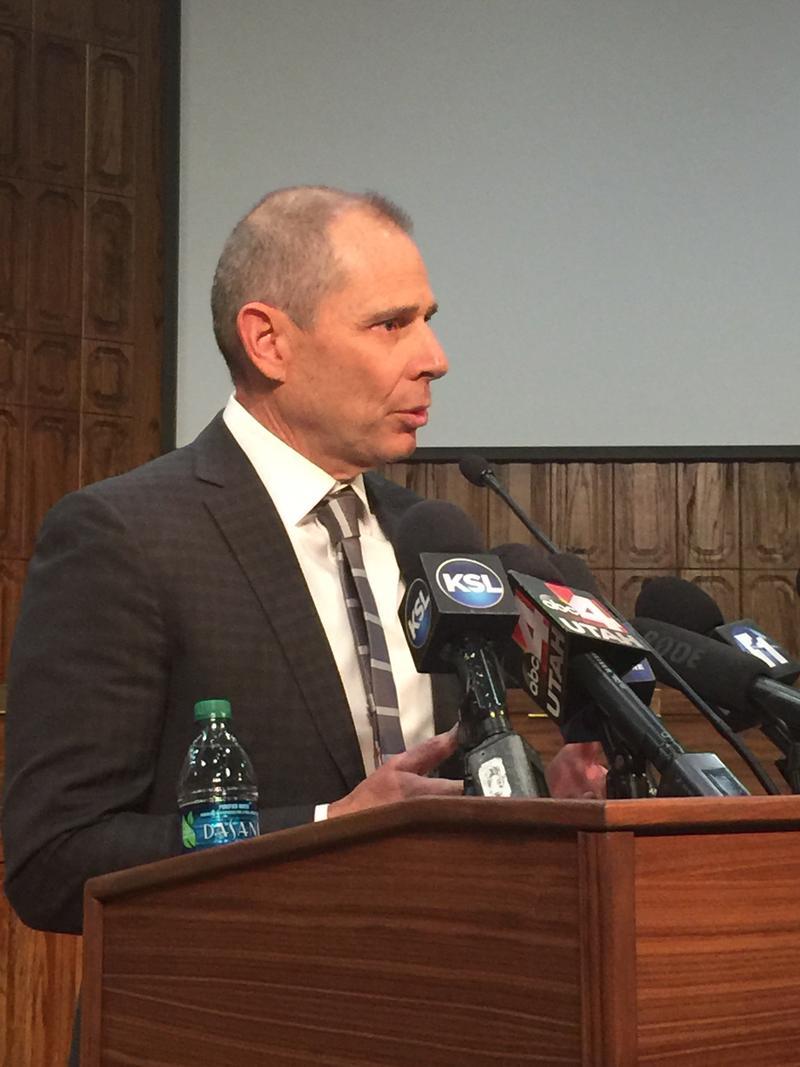 Provo City Mayor John Curtis addresses the media Thursday at Provo City Hall.