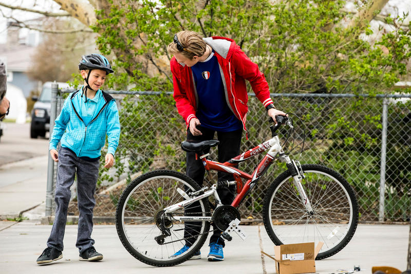 Andrew Mills is now able to ride a bike with both of his legs thanks to a BYU student engineering team.