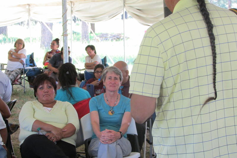 Former Interior Secretary Sally Jewell (center) met with Bears Ears supporters last summer. She also toured areas included in the Public Lands Initiative, which was proposed by leaders and locals but failed to get a congressional vote.