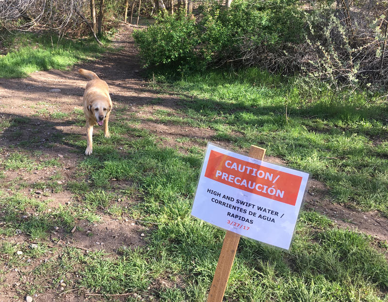 Runoff flowing from Utah's big snowpacks poses a risks to people -- and their pets -- throughout northern Utah.  Here at Parley's Creek warnings are posted.