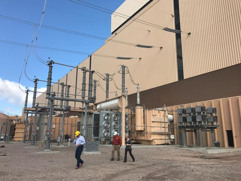 Utah lawmakers toured the Intermountain Power Plant outside Delta on April 18 as part of a legislative site visit. The plant is planning to convert to natural gas to meet changing energy demands, which could mean hundreds of job losses.