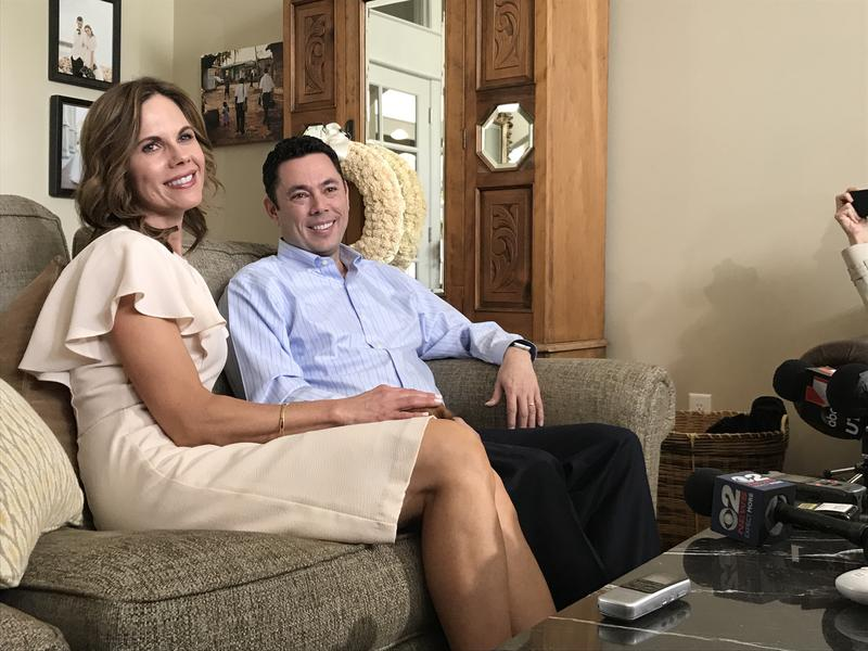 Jason Chaffetz and his wife, Julie, discuss his decision to leave Congress at their home on May 18, 2017. Chaffetz says his last day is June 30.