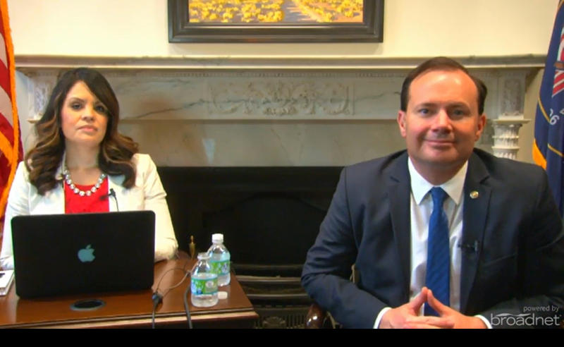 Sen. Mike Lee fields questions about the latest developments in the investigation of Russia's alleged ties to President Trump during an online town hall May 17, 2017.