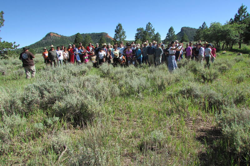 Last summer tribal supporters of a Bears Ears National Monument joined then-Interior Secretary Sally Jewell in a meadow behind the iconic buttes. The current Interior Secretary, Ryan ZInke, suggests cutting its size monument, revamping its management.
