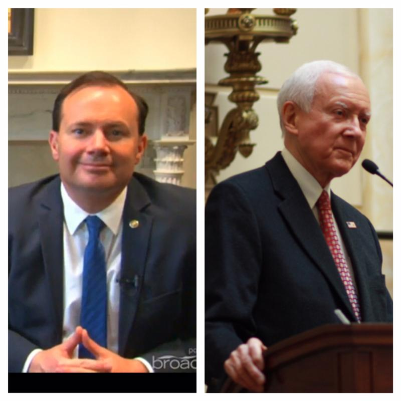 Utah Senators Mike Lee and Orrin Hatch