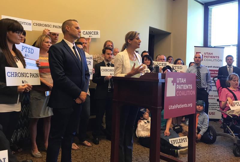 Christine Stenquist is backed by patients who say they would benefit from legalization of medical marijuana in Utah. The Utah Patients Coalition filed a ballot initiative with the Lt. Governor's office on Monday.