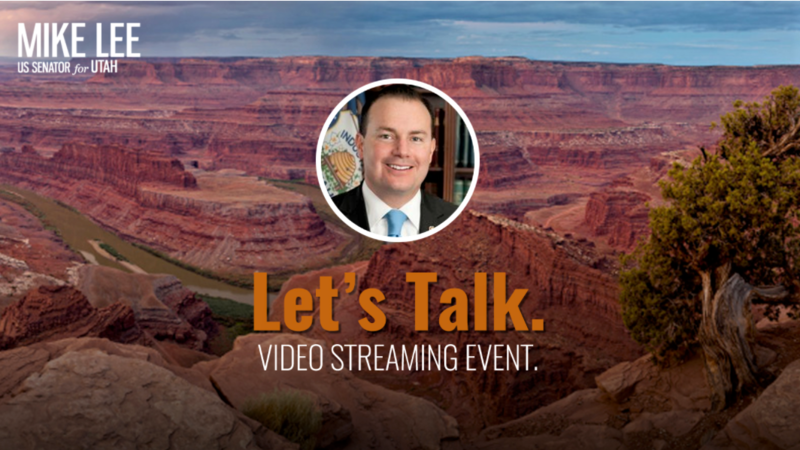 Utah Senator Mike Lee's tele-town hall website.