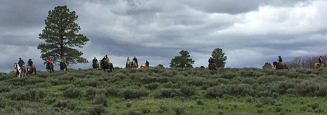 Interior Secretary Ryan Zinke (on the pinto at the far left) is expected to make recommendations on Bears Ears any day -- rescinding it, shrinking it or leaving the boundaries set by the Obama administration.