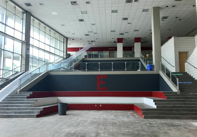 The iconic school cafeteria featured in the movie High School Musical is in need of a new floor following the flood.