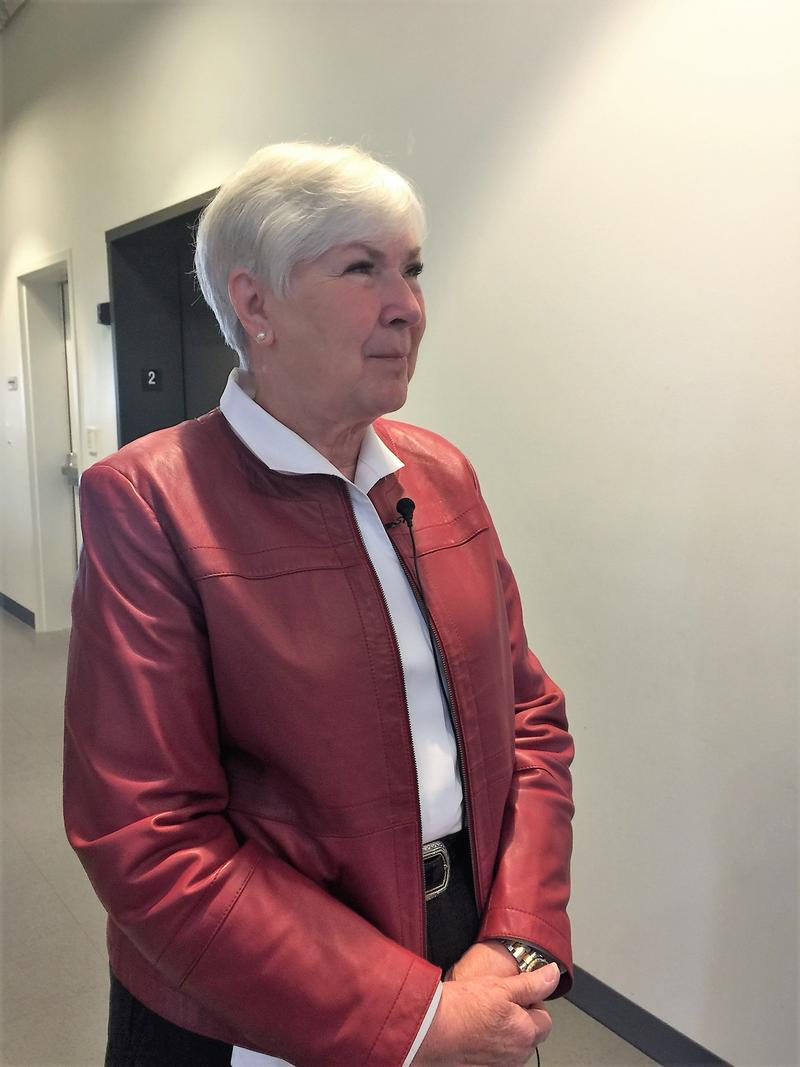 Gail Miller visits the VOA Youth Resource Center.
