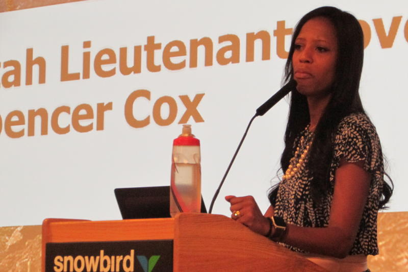 U.S. Rep. Mia Love, R-Utah, addressed the Utah Outdoor Recreation Summit, Northern Conference, on Thursday.
