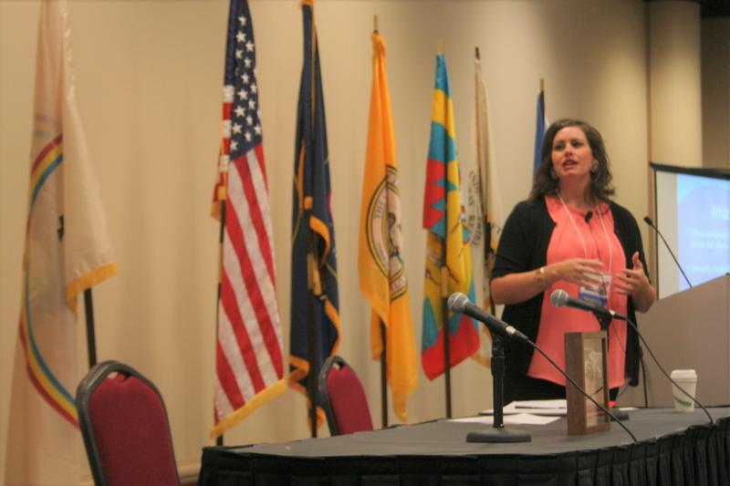 "Dr. Tami DeCoteau presented ""Strategies for Understanding and Working with Trauma Survivors"" at the Utah Indian Child Welfare Conference."