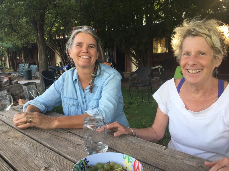 Luanne Hook (left) and Ann Leppanen are two of the people behind the effort to incorporate the tiny town of Bluff. A vote is set for Nov. 7.