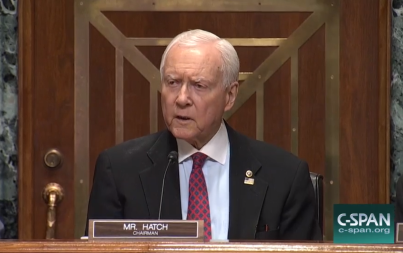 Utah Senator Orrin Hatch led the a hearing on the Graham-Cassidy bill, the proposal to replace the Affordable Care Act.