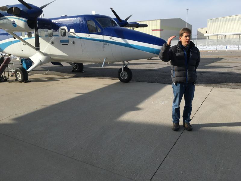 Steve Brown of the National Oceanographic and Atmospheric Administration, was part of a multi-agency team thats been studying winter smog in northern Utah. The plane gather crucial data that's still being reviewed.