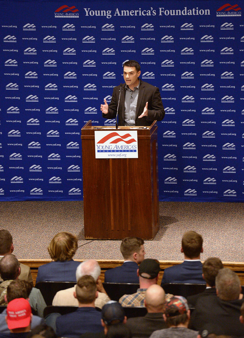 "Conservative author Ben Shapiro delivers a speech called ""Trigger Warnings"" at the U on Sept. 27."