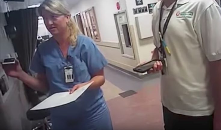 Nurse Alex Wubbels in a frame grab from her arrest on July 27. The FBI has not been asked to assist the investigation into the incident, which has drawn widespread scrutiny.