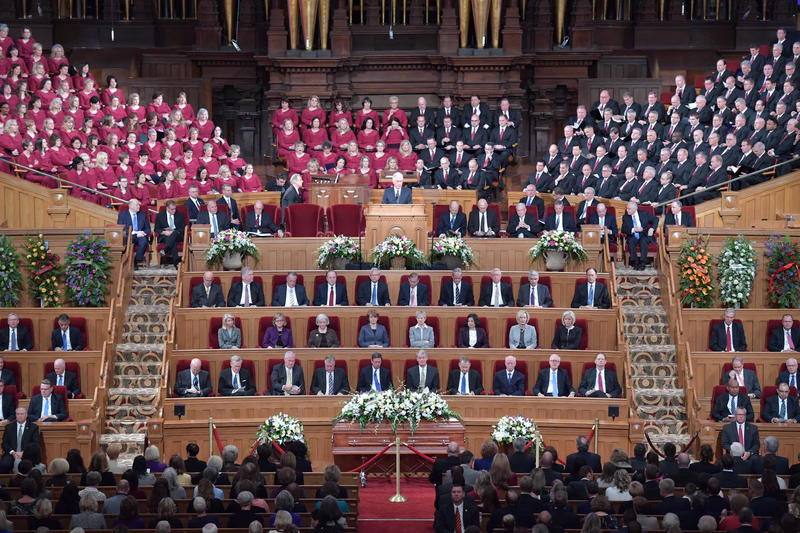 Members and leaders of the LDS Church gathered at the Salt Lake Tabernacle to honor apostle Robert D. Hales who passed away last weekend.