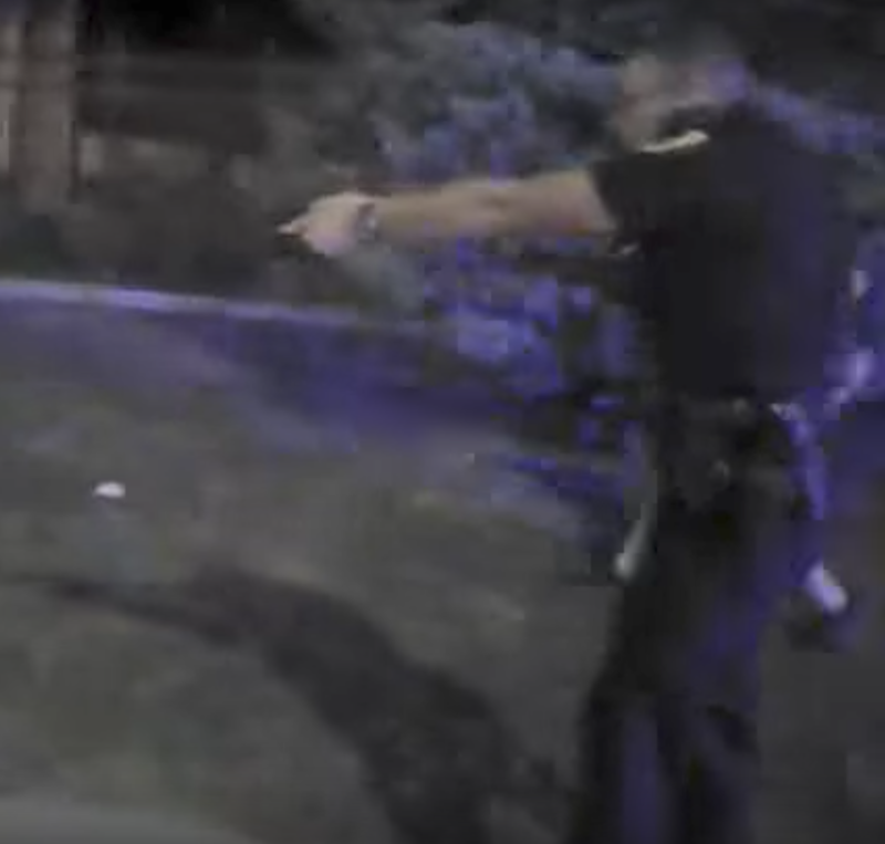 Officer Clinton Fox from bodycam footage