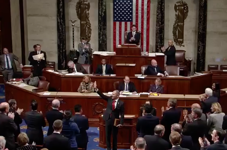 Curtis is introduced to his new colleagues in the House of Representatives.