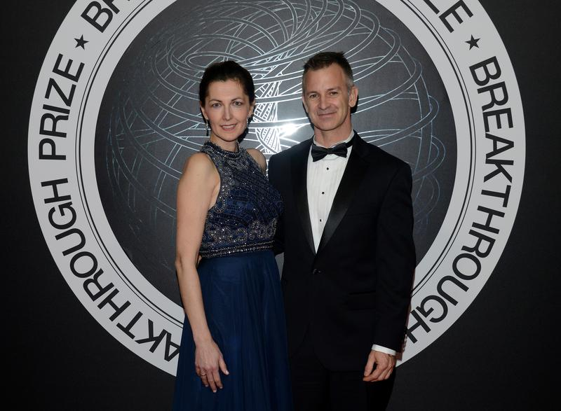 Christopher Hacon (right) at the 2018 Breakthrough Prize award ceremony.  Hacon teached math at the University of Utah.