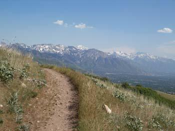 Looking south from the shoreline trail in Salt Lake City