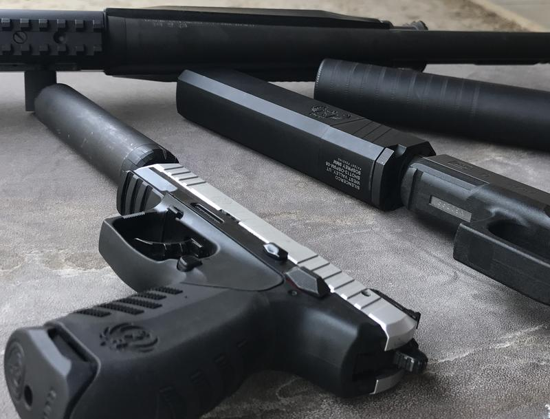 Firearms equipped with suppressors manufactured by Utah-based SilencerCo. The CEO of the company gave Sen. Mike Lee $3,000 for his re-election bid last year. Sen. Lee introduced legislation this year to loosen restriction on the devices.