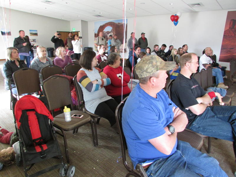 About 50 people turned out for the live-stream of President Trump's address at the Hideout Communty Center and Golf Club in Monticello. People at the screening said that, by scaling down the monuments, the president demostrated that he understands them.