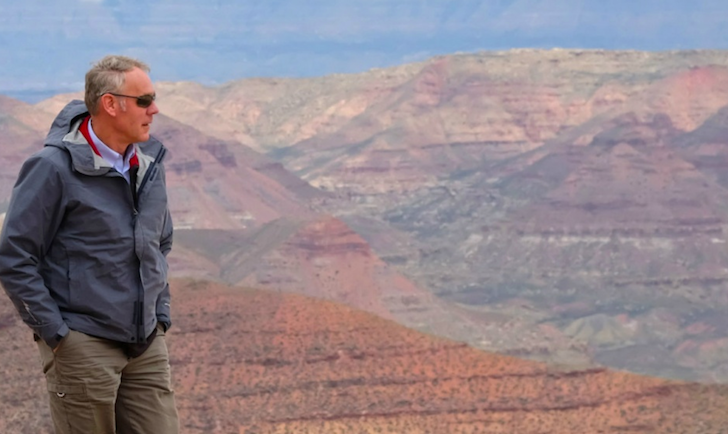 U.S. Interior Secretary Ryan Zinke at the Grand Staircase Escalante National Monument, which the Trump administration says it intends to shrink. It's still not clear how much of the coal contained in the monument would be mined with smaller boundaries.
