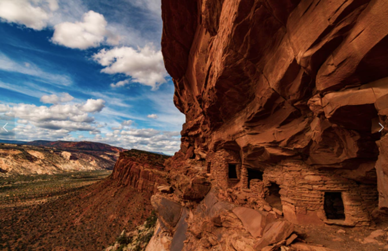 Many visitors aren't familar with ways to avoid damaging places like this ancient dwellings in the canyons near the Bears Ears buttes. A new education center is aimed at helping to educate them.