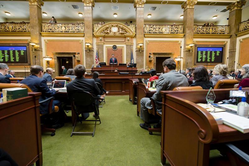 Speaker Greg Hughes addresses the Utah House on Jan. 22.