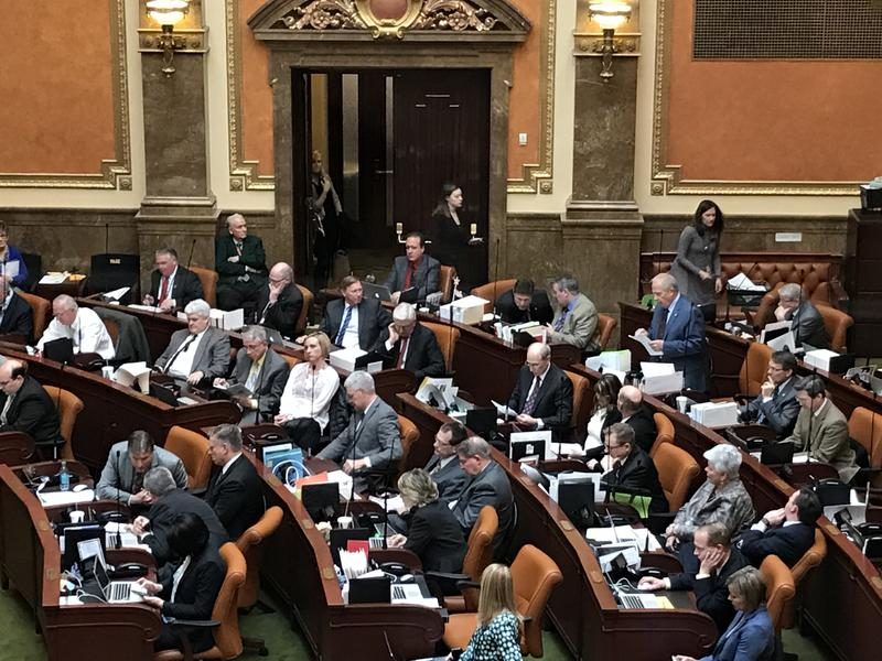 Members of the Utah House convene during the 2017 session.