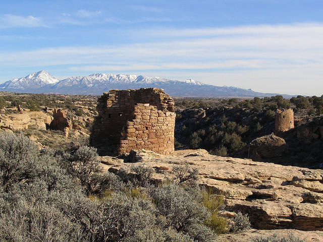 Research at Hovenweep National Monument has revealed one early puebloan culture after another settled in the area and remained until the 1300s. A federal agency is proposing to sell oil and gas drilling sites near the national monument in March.