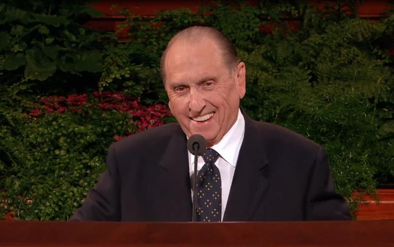 """Near Temple Square on Wednesday, people recalled how the late LDS President Thomas S. Monson was a """"people person"""" who always had a warm smile and was known to wiggle his ears during conference speeches."""
