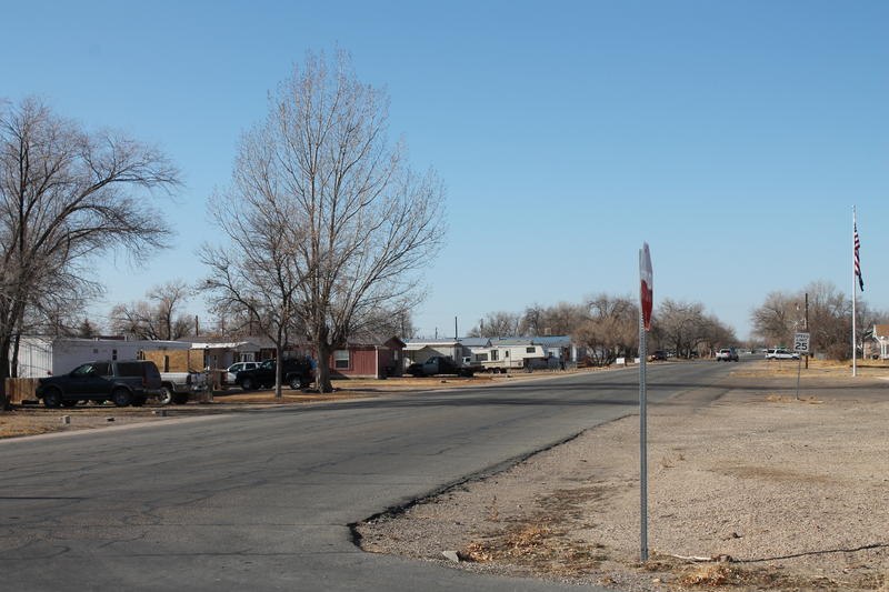 The city of Myton is the center of a dispute over the Ute line. It's a complicated patchwork of tribal and non-tribal properties.