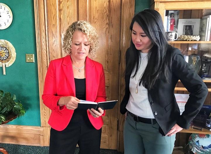 Salt Lake City mayor Jackie Biskupski (left) hired Angela Doan (right) for a new education advisor role last November.