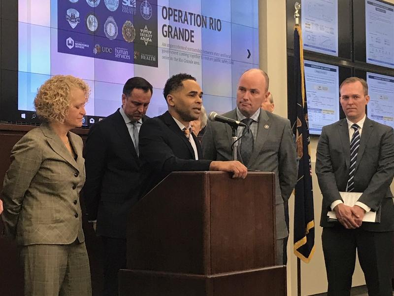 From left to right: Salt Lake City Mayor Jackie Biskupski, House Speaker Greg Hughes, Rich Deprez, Lieutenant Governor Spencer Cox and Salt Lake County Mayor Ben McAdams.