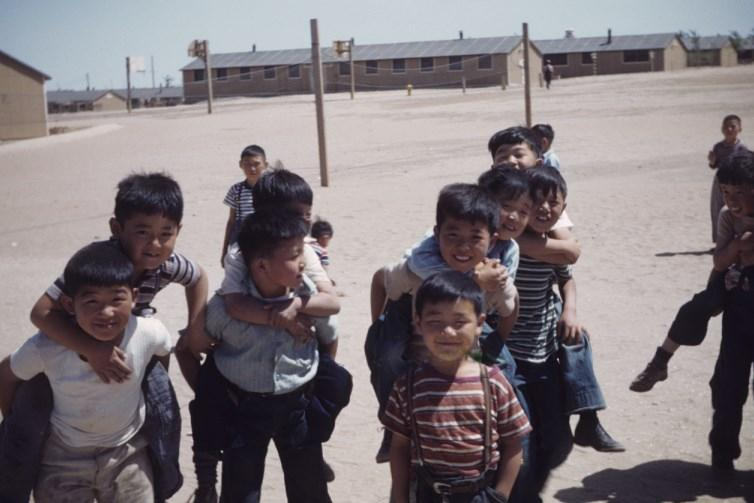 School children at Amache. The boy scout troop had more than 200 members.
